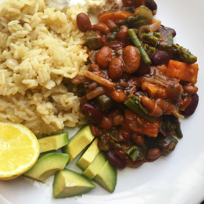 Quick Dinner 2: Vegan burrito stew