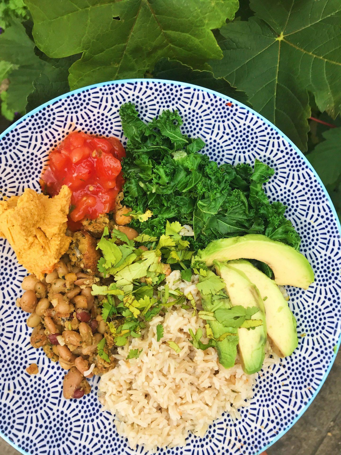 National Healthy Eating Week Day 5: Easy vegan falafel buddha bowl