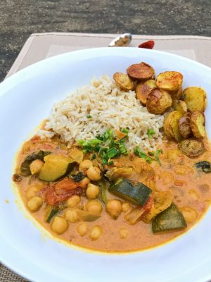 National Healthy Eating Week Day 2: Creamy Coconut Curry with Bombay Potatoes