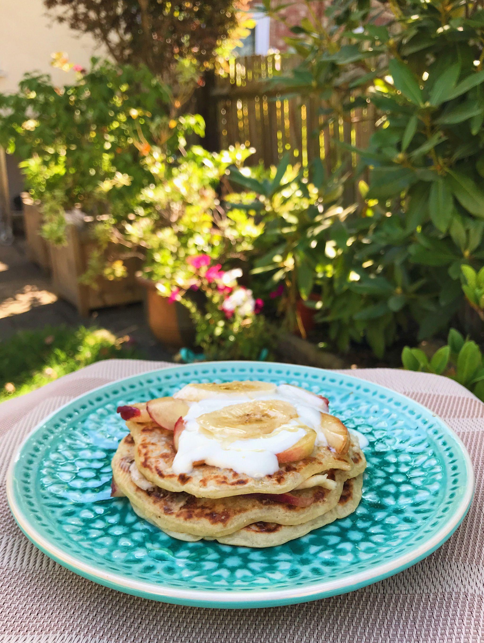 Vegan Vanilla Protein Pancakes