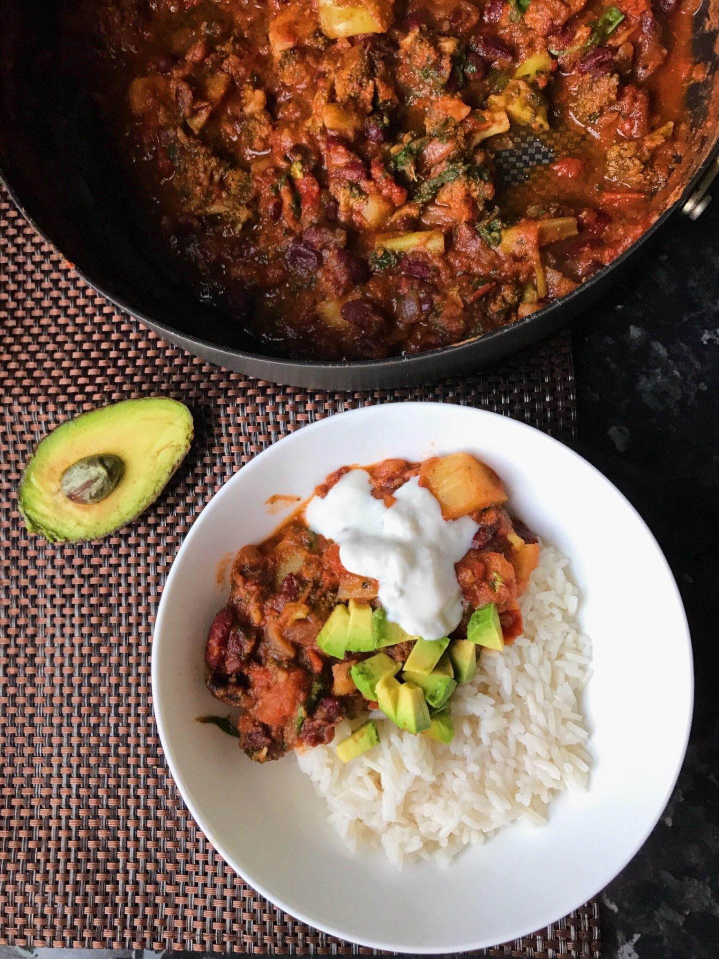 """""""Chilli non carne"""" – Kidney bean stew"""