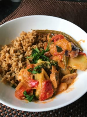 Thai Red Curry with Oriental Fried Rice (Ve)