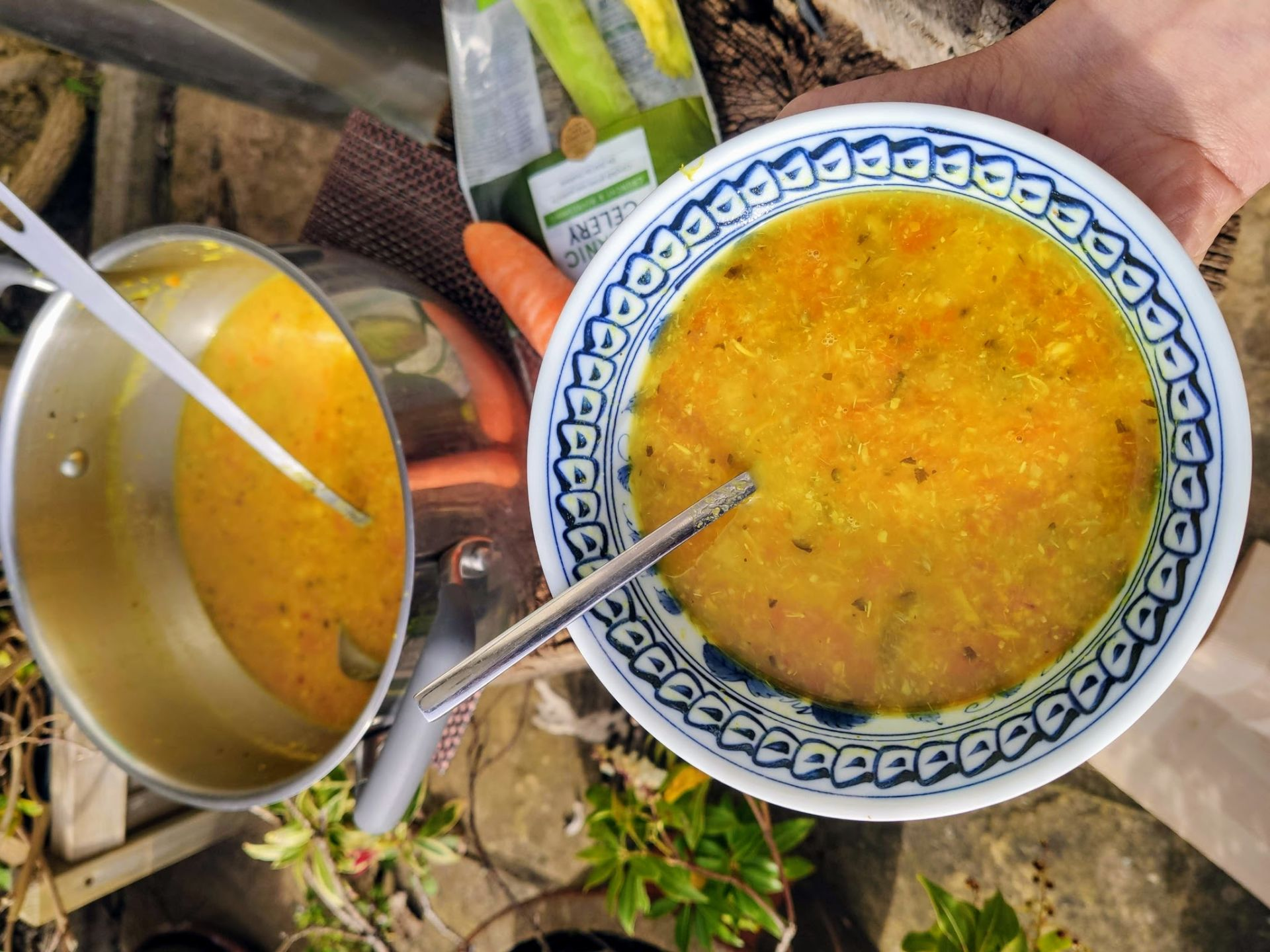 High Protein Lentil and Carrot Soup (Ve)
