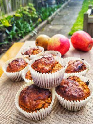 Tahini Fudge Apple Muffins (Ve)