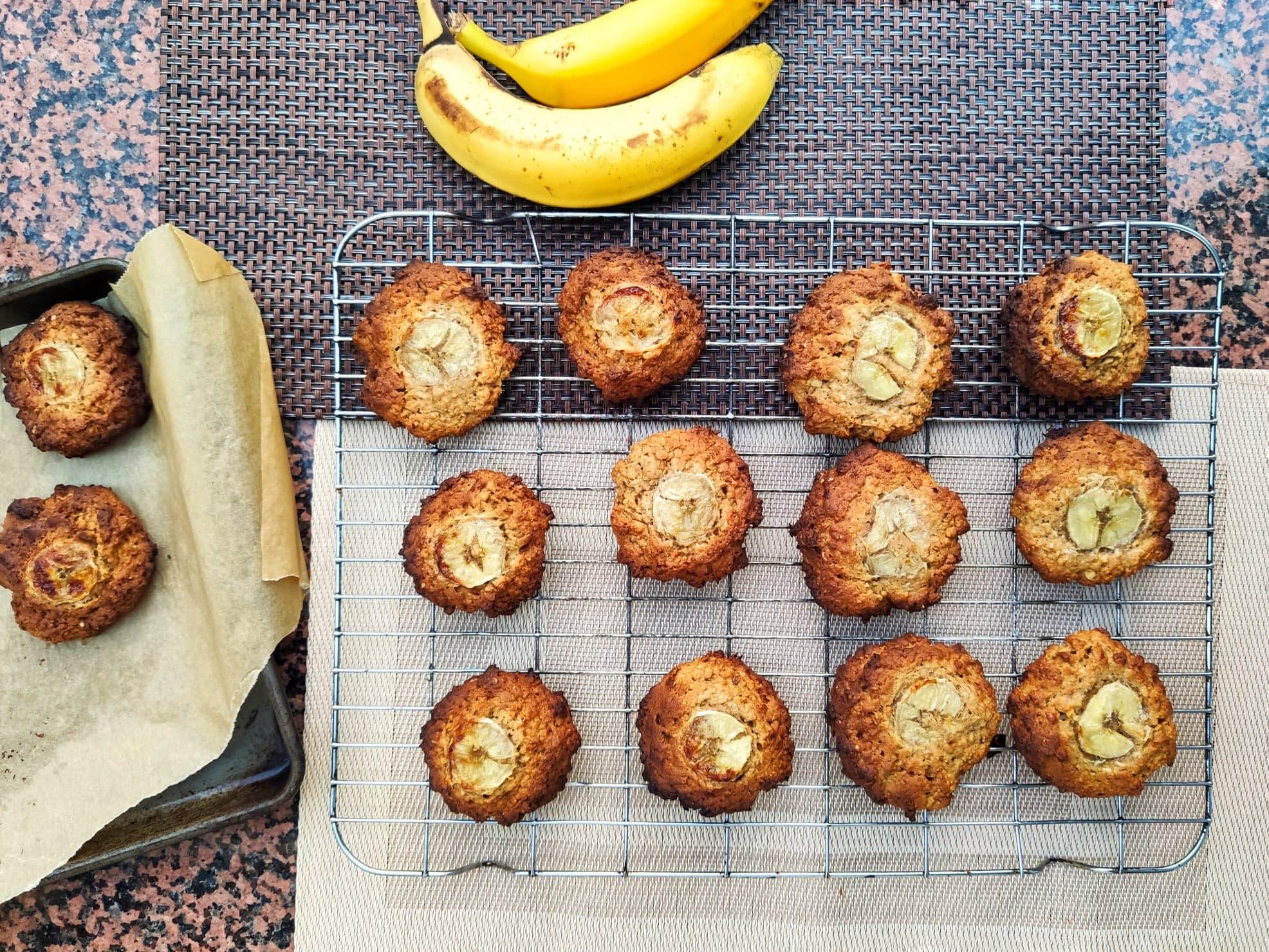 Banana and Peanut Butter Cookies (Ve)