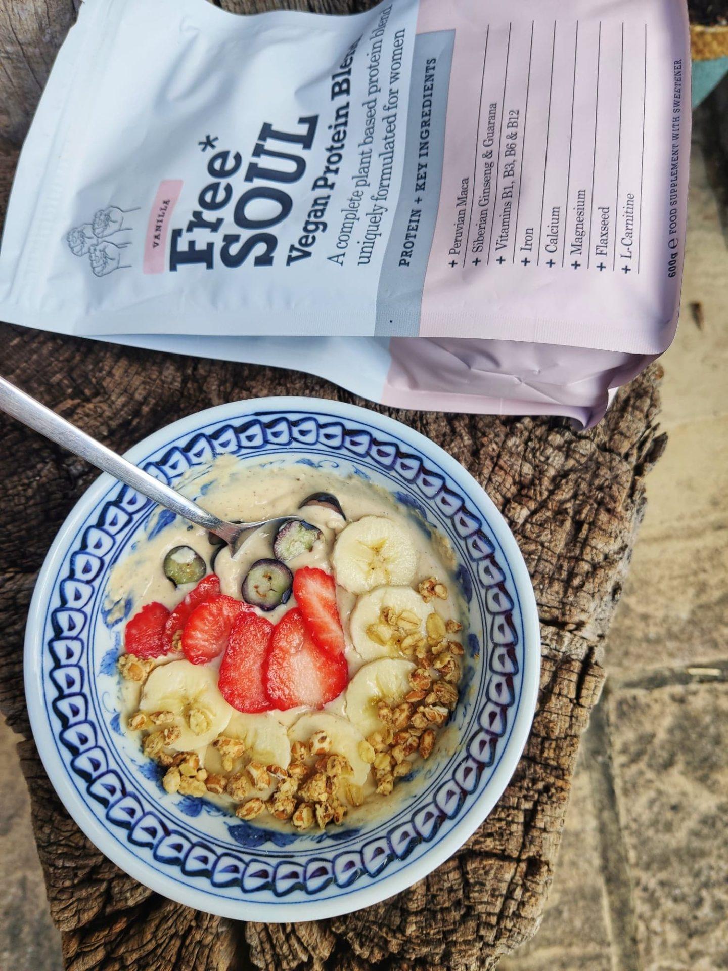 vegan protein yogurt bowl