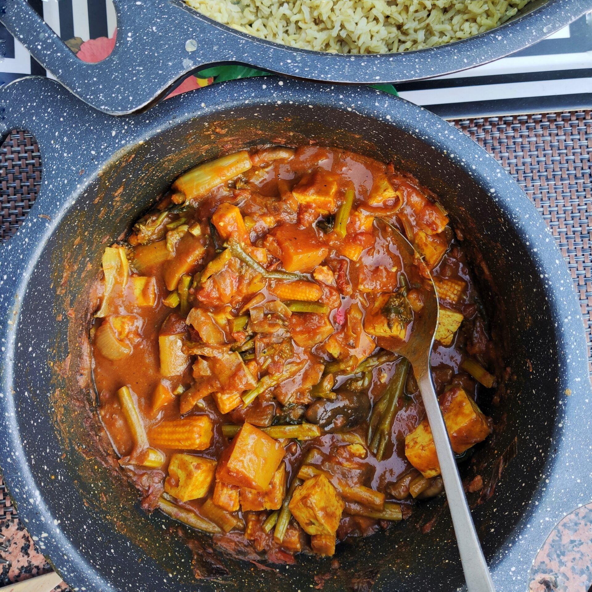 Caribbean Tofu Curry