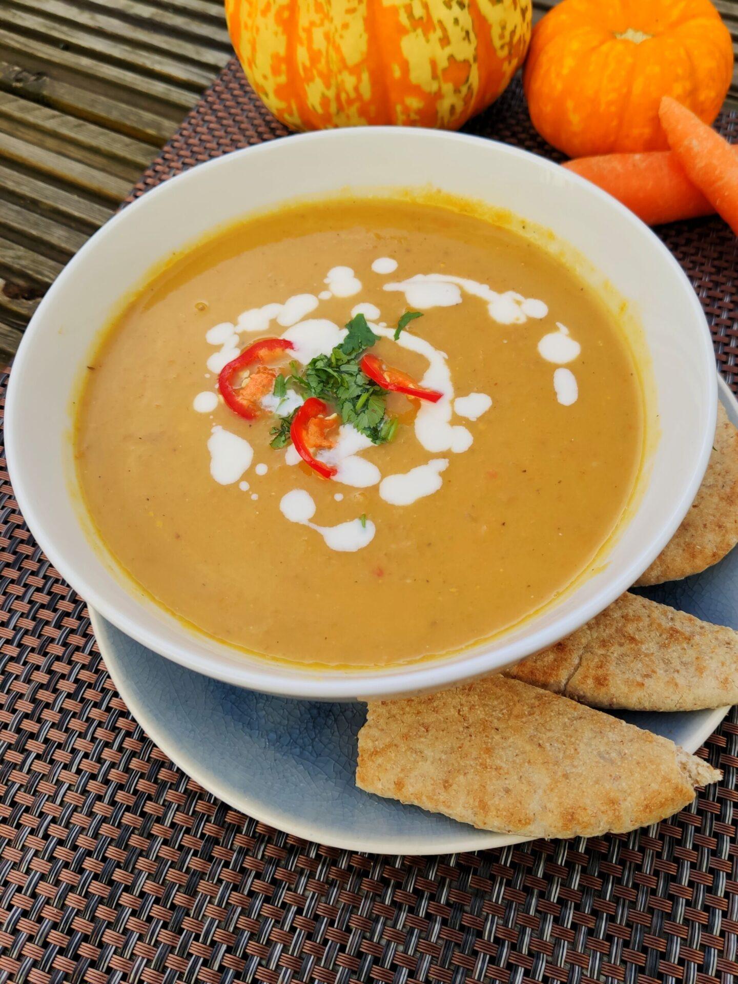 Spiced ginger squash soup (Ve)